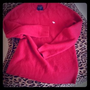 ABERCROMBIE 100% cashmere red sweater S
